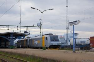 Cargo Net 185 709-4 + 185 713-6 ved Trelleborg - 09.06.2012