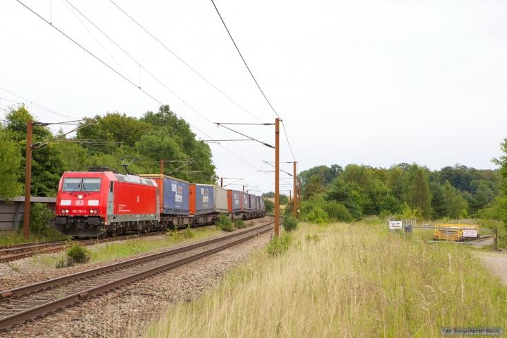 DB Schenker 185 330-5 med GD42733 (Mgb-Pa) ved Tommerup - 24.08.2012