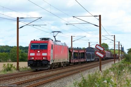 DB Schenker 185 333-9 med G44781 (Fredericia - Padborg) mellem Fredericia og Taulov - 08.09.2012