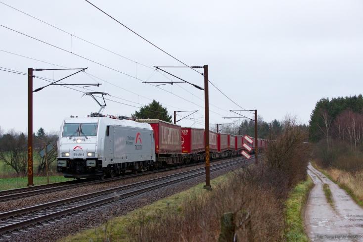 TXL 185 418-3 med TG6077 (Mgb-Pa) mellem Holmstrup og Tommerup - 21.12.2013