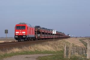 DB 245 022 m. Autozug som AS 1440 (Niebüll-Westerland) mellem Klanxbüll og Morsum - 26.03.2016