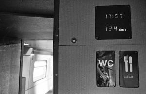Som noget helt nyt var vognene udstyret med en digital hastighedsviser. Det siges dog, at man på et senere tidspunkt ændrede displayet, så det ikke kunne vise hastigheder over 120 km/t. 13. maj 1982.