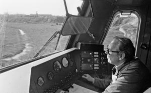Præsentation af protolynet, førerrummet i BFS, 13. maj 1982.