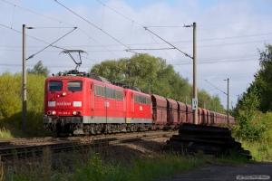 DB Schenker 151 065-0 og 151 119-5 ved Hamburg Moorburg - 15.09.2012