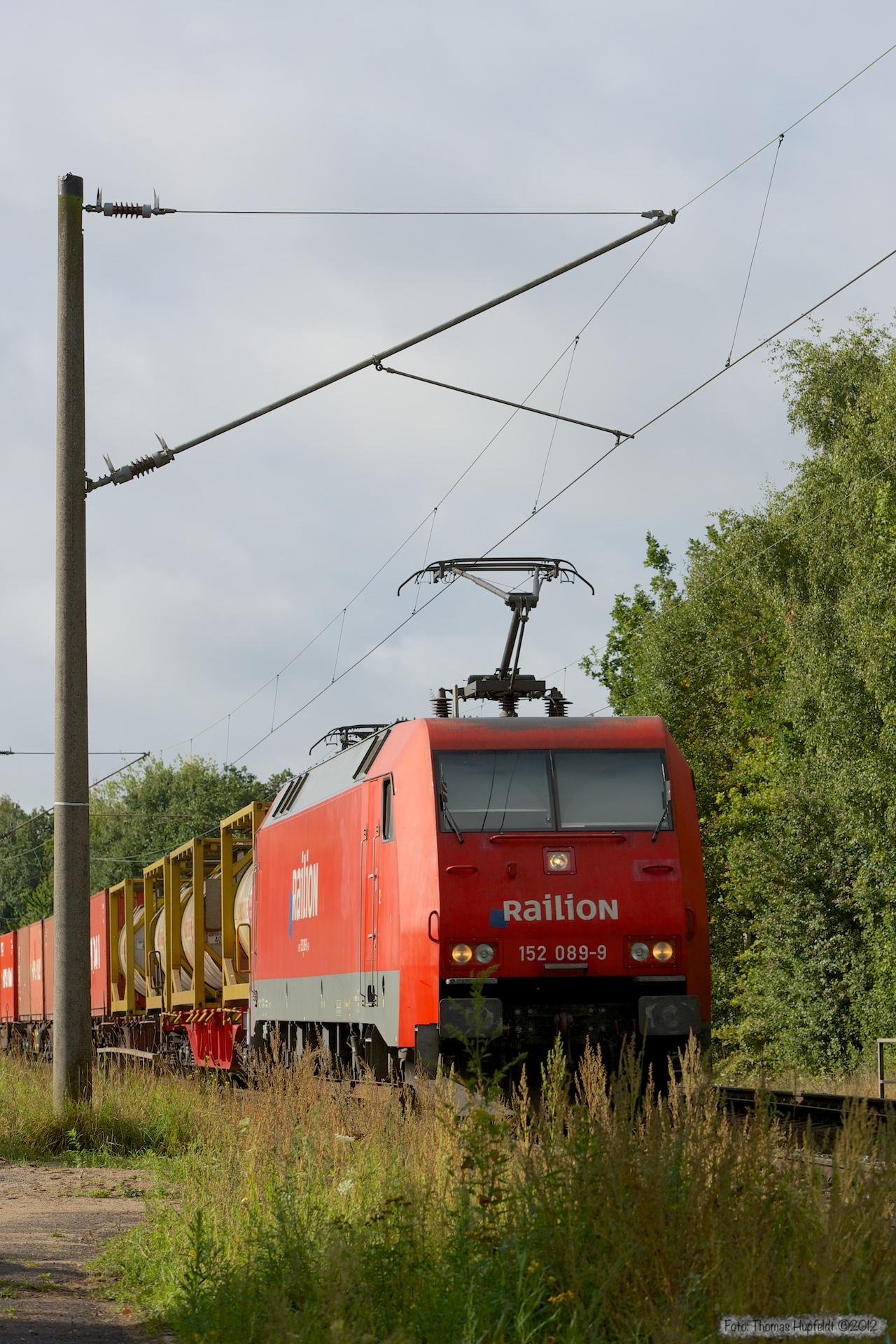 DB Schenker 152 089-9 ved Hamburg Moorburg - 15.09.2012