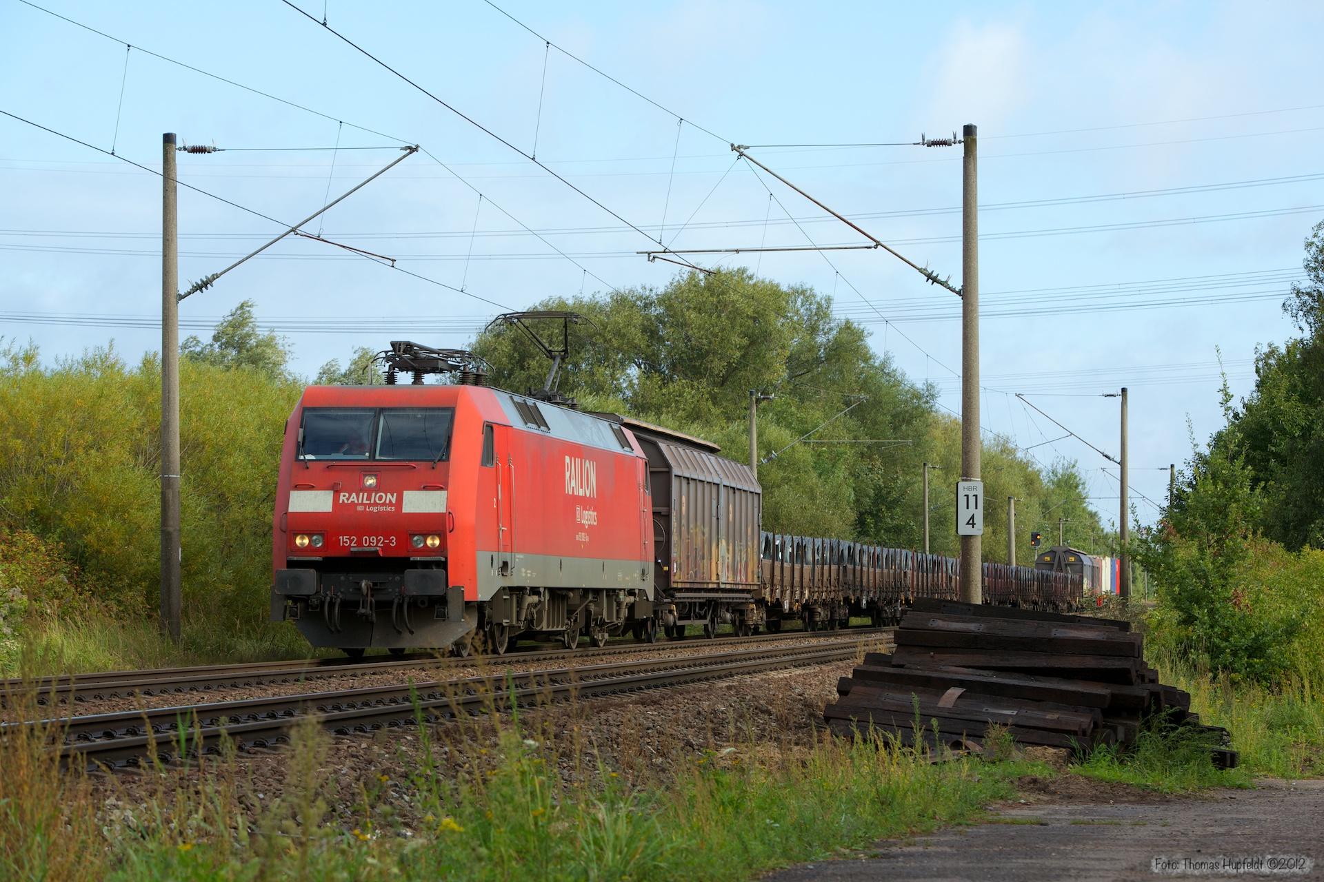 DB Schenker 152 092-3 ved Hamburg Moorburg - 15.09.2012