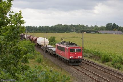DB Schenker 155 104-3 ved Ramelsloh - 15.09.2012