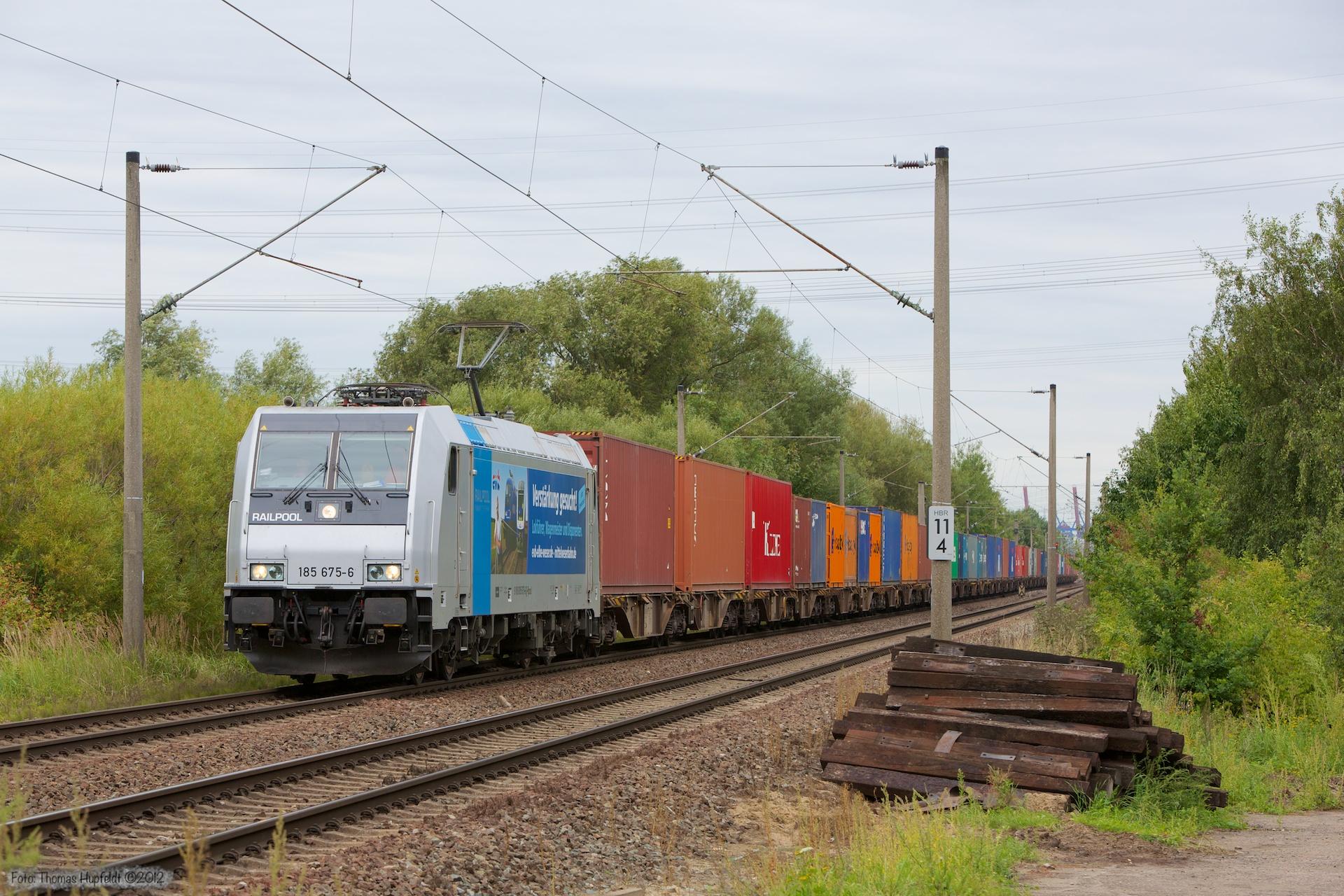 EWB (Railpool) 185 675-6 ved Hamburg Moorburg - 15.09.2012