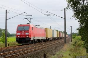 DB Schenker 185 366-2 ved Ramelsloh - 15.09.2012