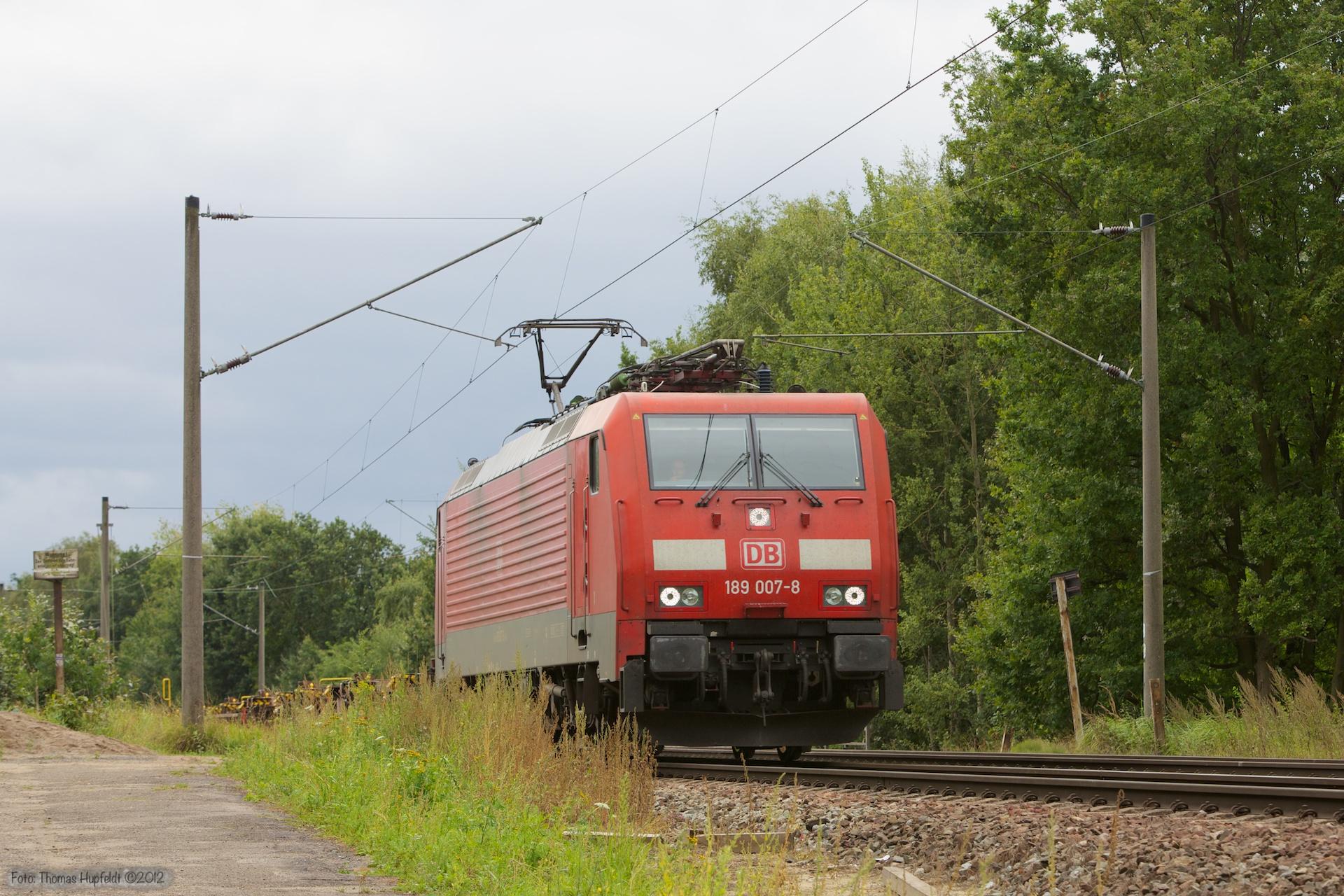 DB Schenker 189 007-8 ved Hamburg Moorburg - 15.09.2012