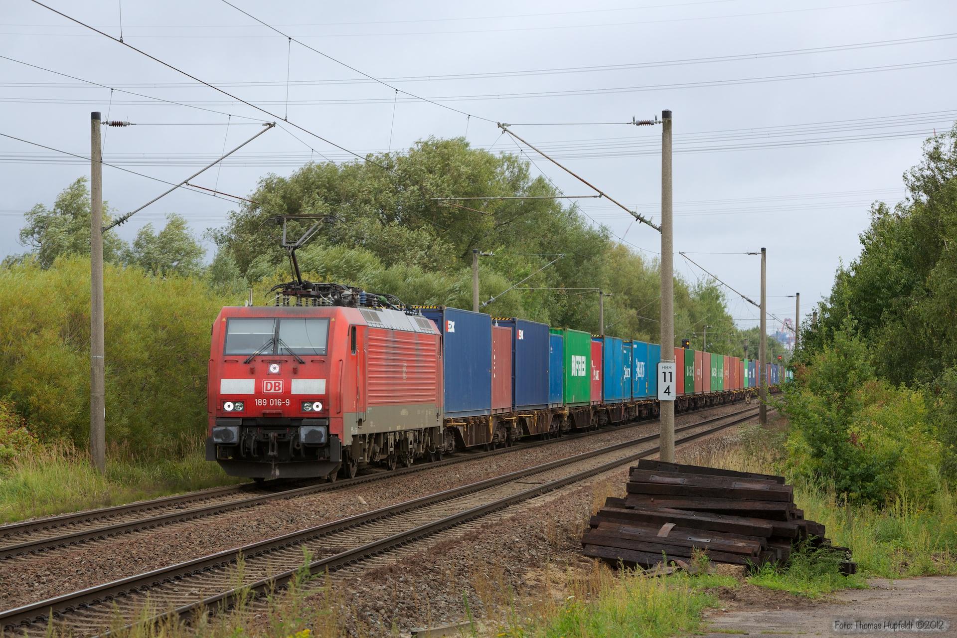 DB Schenker 189 016-9 ved Hamburg Moorburg - 15.09.2012