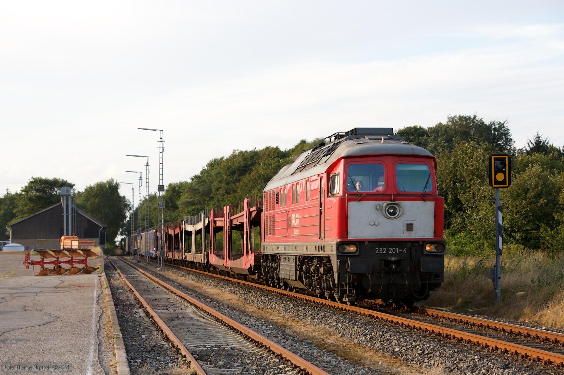 DB 232 201-4 med 47423 ved Süderlügum - 03.08.2014