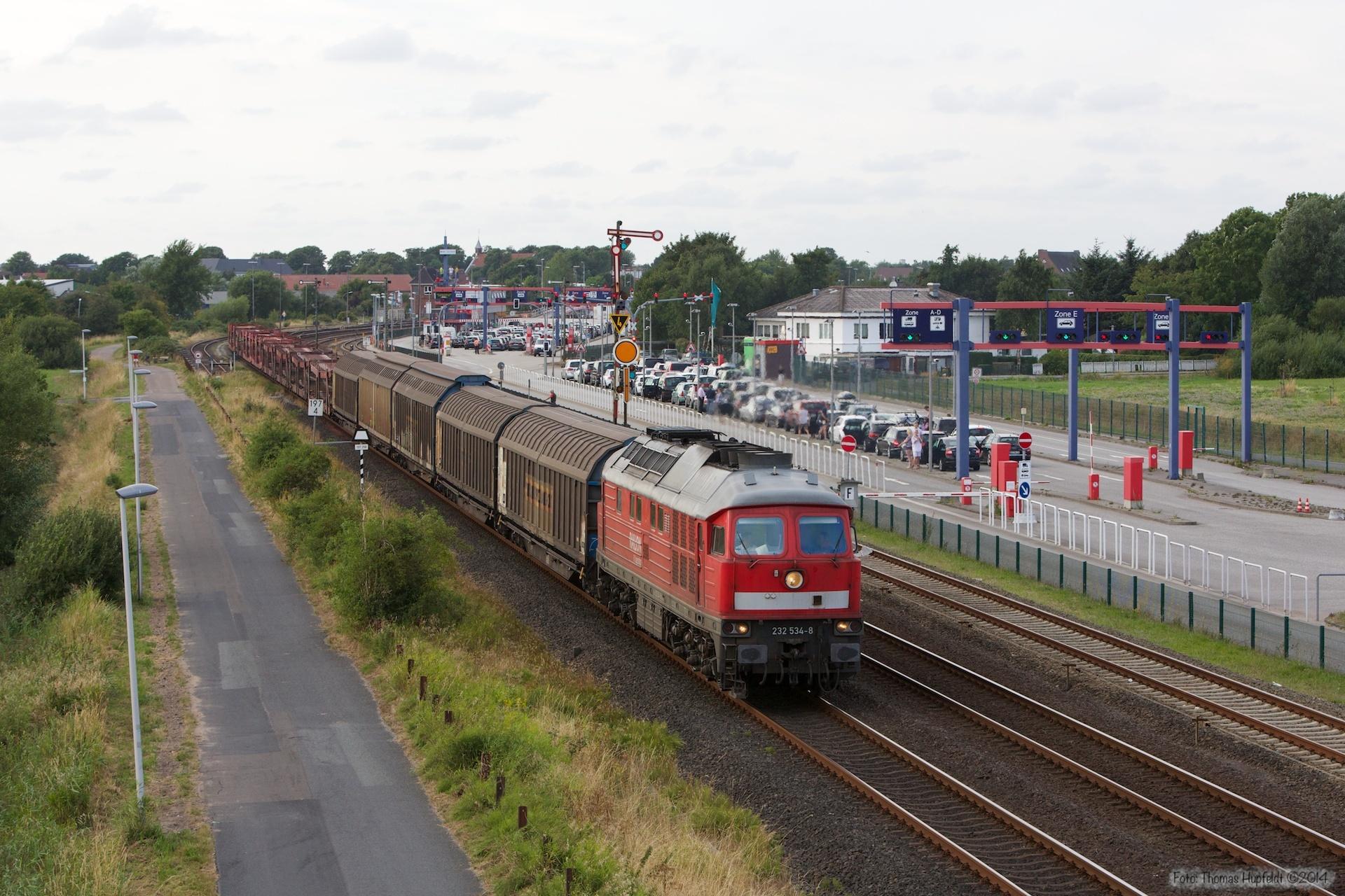 DB 232 534-8 med 47415 ved Niebüll - 03.08.2014