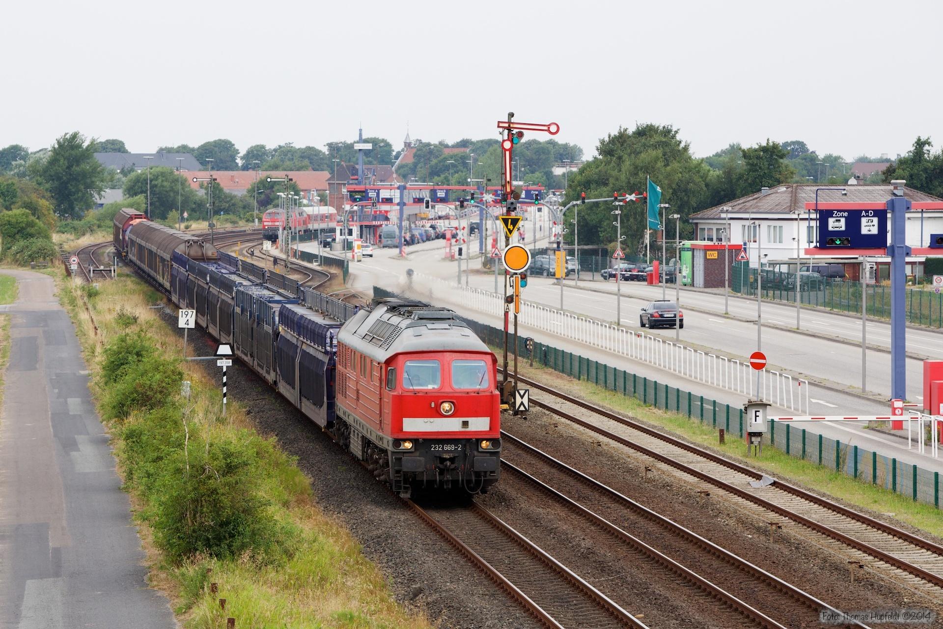 DB 232 669-2 med 47403 ved Niebüll - 03.08.2014