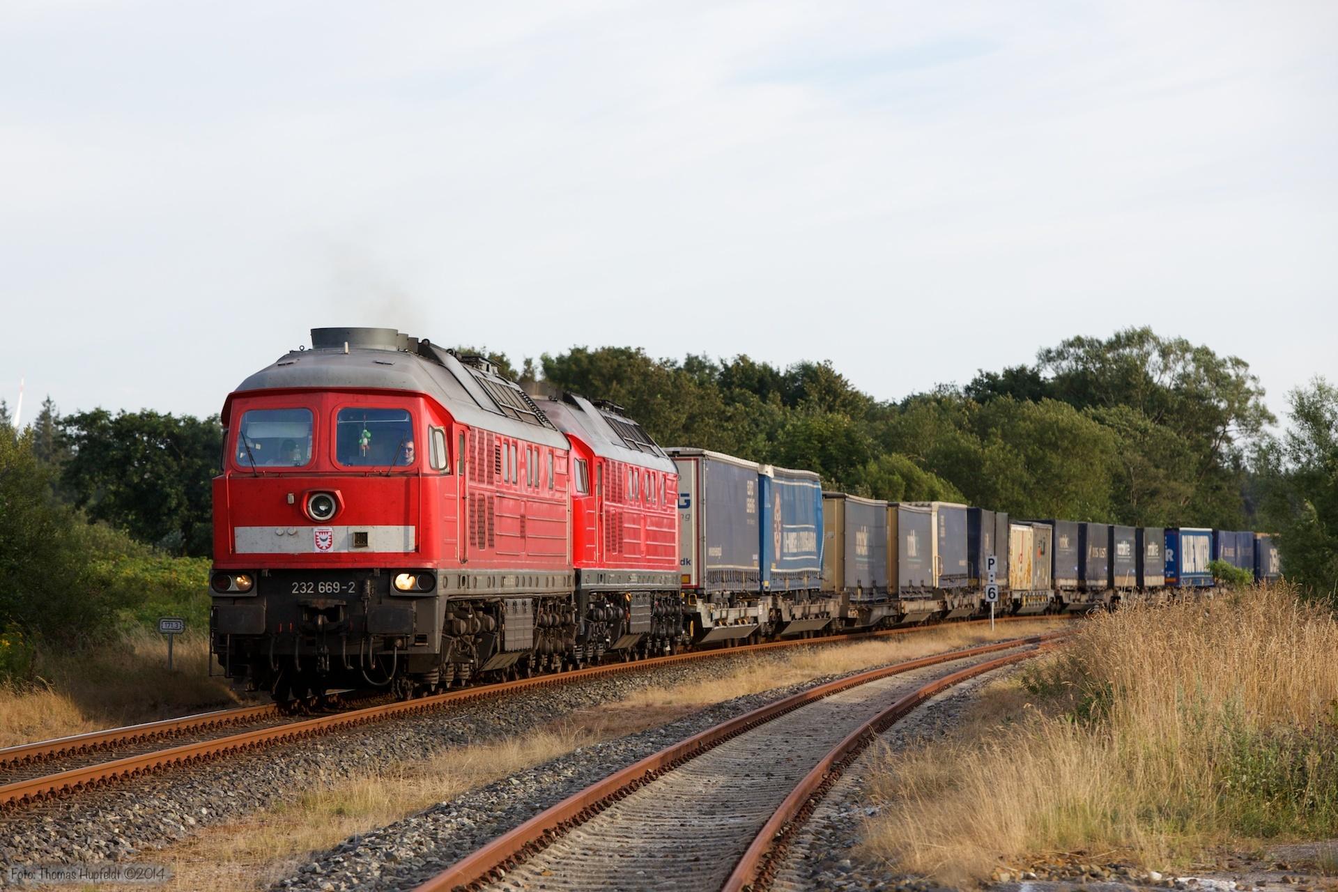 DB 232 669-2 og 232 259-2 med 47414 ved Süderlügum - 03.08.2014
