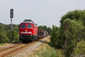 DB 232 259-2 med GD 138705 (Es-Tdr) mellem Ribe Nørremark og Ribe - 02.08.2014