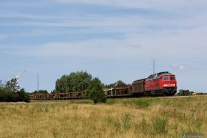 DB 232 384-8 med GD 138709 (Es-Tdr) mellem Skærbæk og Døstrup - 04.08.2014