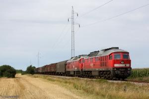 DB 232 534-8 og 232 469-7 med GD 138711 (Es-Tdr) mellem Skærbæk og Døstrup - 04.08.2014