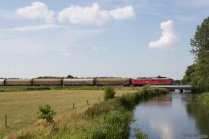 DB 232 568-6 med GD 138606 (Tdr-Es) mellem Gredstedbro og Ribe Nørremark - 02.08.2014