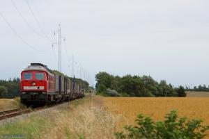 DB 232 568-6 med GD 138610 (Tdr-Es) mellem Visby og Tønder Industrispor Nord - 04.08.2014
