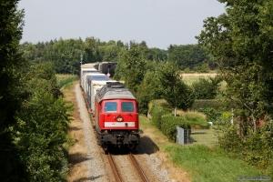 DB 232 568-6 med GD 138711 (Es-Tdr) ved Gredstedbro - 02.08.2014