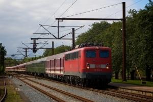 DB 110 200-3 med Dz13091 ved Padborg - 14.07.2008