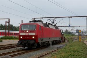 DB 120 141-7 og DSB Köf 285 ved Padborg - 29.07.2012