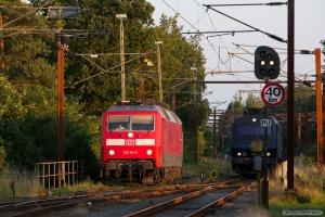 DB 120 151-6 og DSB EA 3022 ved Padborg - 28.07.2012