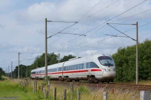 DSB BR605 sæt 18 som ICE380 (Hamburg - Aarhus) ved Harislee - 28.07.2012