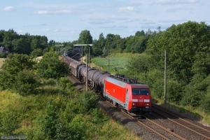 DB Schenker EG 3102 med EZ 40739 (Padborg - Hamburg Maschen) ved Flensburg Weiche - 28.07.2012