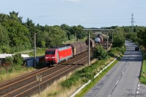 DB Schenker EG 3108 med EZ 44742 (Hamburg Maschen - Malmö G) ved Flensburg Weiche - 28.07.2012