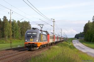 Hector Rail 242 503 med RST 7142 (Malmö C-Stockholm C) mellem Boxholm og Lundekullen - 07.06.2012