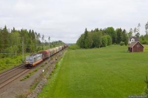 Hector Rail 441.001-3 med GT 40473 (Borlänge - Trelleborg) mellem Stockaryd og Rörvik - 09.06.2012