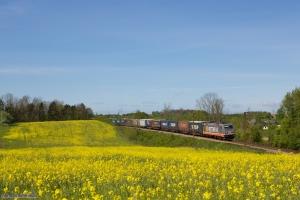Hector Rail 241.001 med HG 42704 (Pa-Mgb) mellem Holmstrup og Odense - 03.05.2014