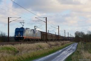 Hector Rail 241.012 og 241.011 med HG 45685 (Mgb-Pa) mellem Marslev og Odense - 11.11.2012
