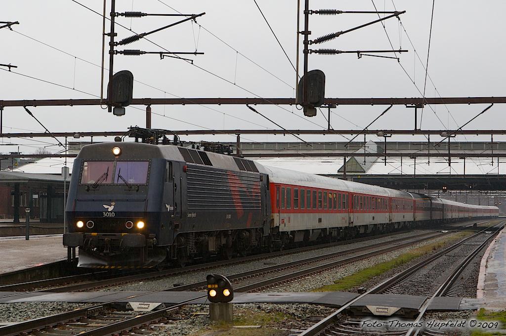 DSB EA 3010 i Fredericia - 18.01.2009