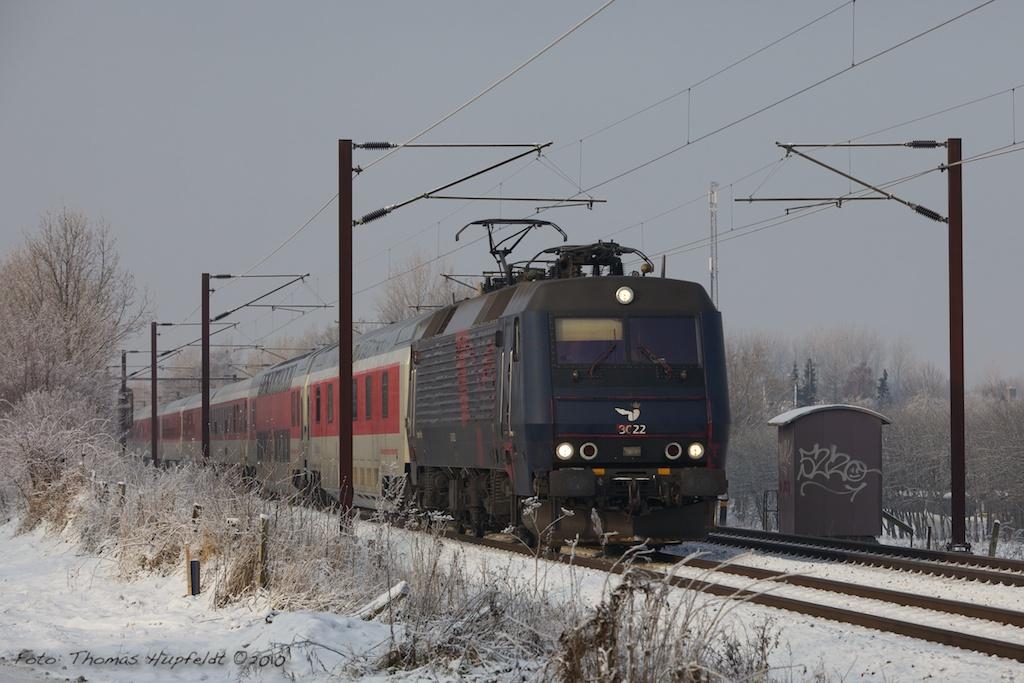 DSB EA 3022 med EN 472 (Pa-Kh) vest for Odense - 19.12.2010