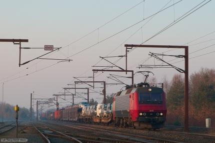 Railion DK EA 3019 med G 44776 (Pa-Rg) ved Rødekro - 31.03.2007