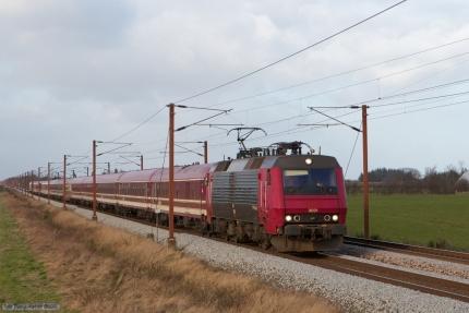 Railion DK EA 3021 med M 13261 (Fa-Pa) mellem Vojens og Rødekro - 02.03.2008