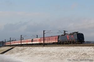 DSB EA 3022 med IP 8064 (Pa-Kh) ved Nyborg - 01.02.09