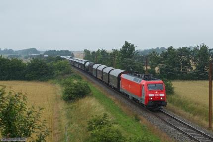 DB Schenker EG 3113 med GD44735 (Malmö G - Padborg) mellem Vojens og Sommersted - 28.07.2012
