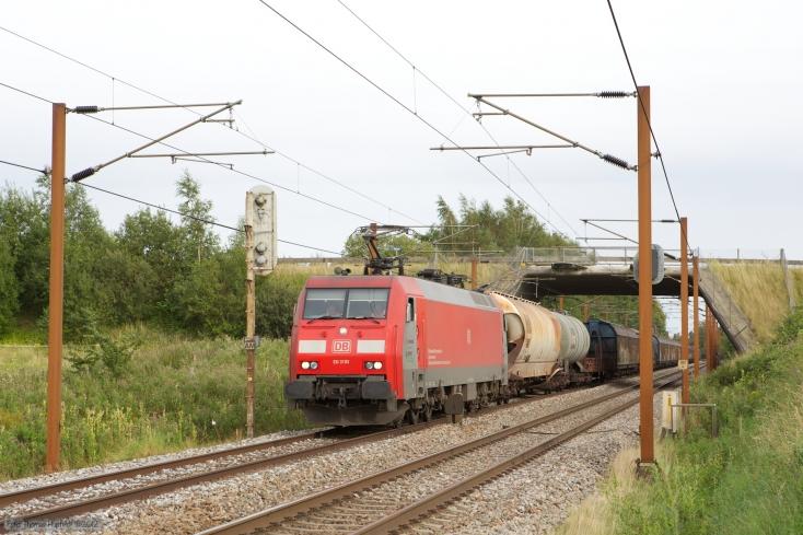 DB Schenker EG3103 med GD44737 (Mgb-Pa) mellem Bred og Årup - 24.08.2012