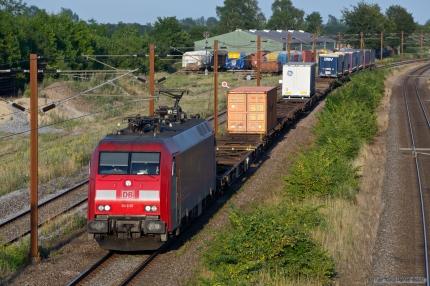 DB Schenker EG 3103 med GX 41915 (Malmö G - Taulov) ved Marslev - 25.07.2012