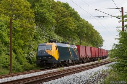 Railion DK EG 3102 med GD44719 (Mgb-Pa) mellem Odense og Holmstrup - 12.05.2007