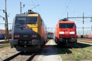 DB Schenker EG 3109 og 3110 på Malmö - 08.05.2011