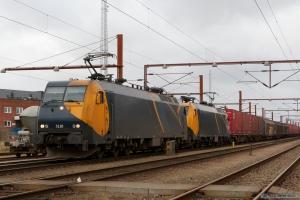 Railion DK EG 3110 og EG 3112 med GD44703 (Mgb-Pa) ved Padborg - 02.03.2008