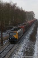 DB Schenker EG 3105 med GD44704 ved Nyborg - 01.02.2009
