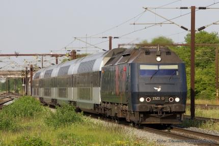DSB ME 1521 i Høje Taastrup - 10.07.2010