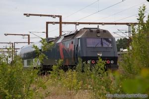 DSB ME 1518+Abs 7916 i Padborg - 02.08.2009