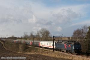 DSB ME 1533 med IP 13274 (Pa-Kh) mellem Holmstrup og Odense - 08.02.2009